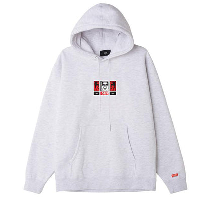 OBEY 3 Faces 30 Years Hoodie White | OBEY Clothing