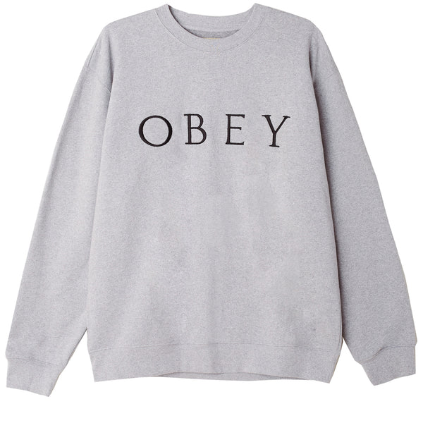IDEALS SUSTAINABLE LOGO CREW ASH GREY | OBEY Clothing