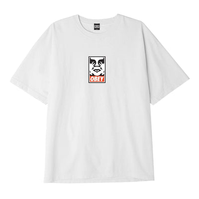 OBEY Icon Face Heavyweight Classic Box Tee White | OBEY Clothing