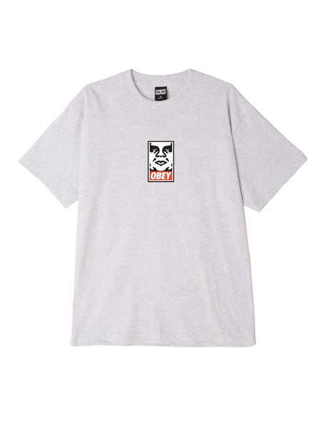 OBEY Icon Face Heavyweight Classic Box Tee Heather grey | OBEY Clothing