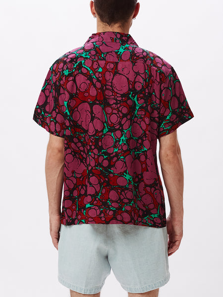 BOTCHED WOVEN DARK CORAL MULTI | OBEY Clothing
