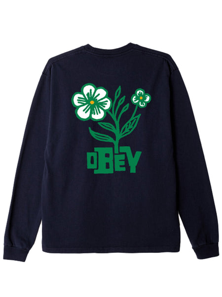 BLOOM CUSTOM BOX LS TEE OFF BLACK | OBEY Clothing