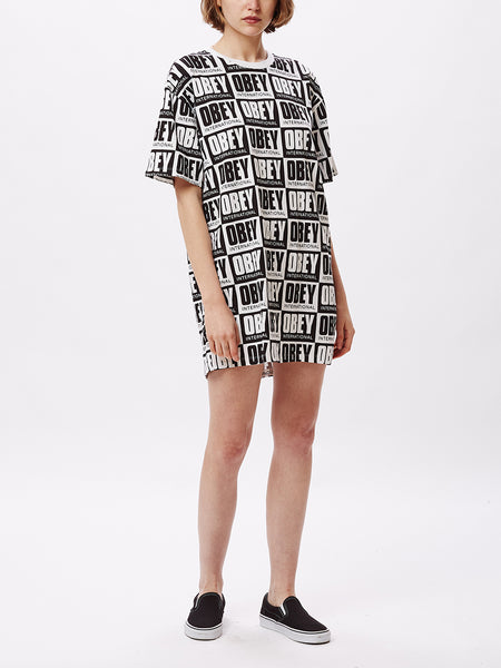 KALA DRESS BLACK / WHITE | OBEY Clothing