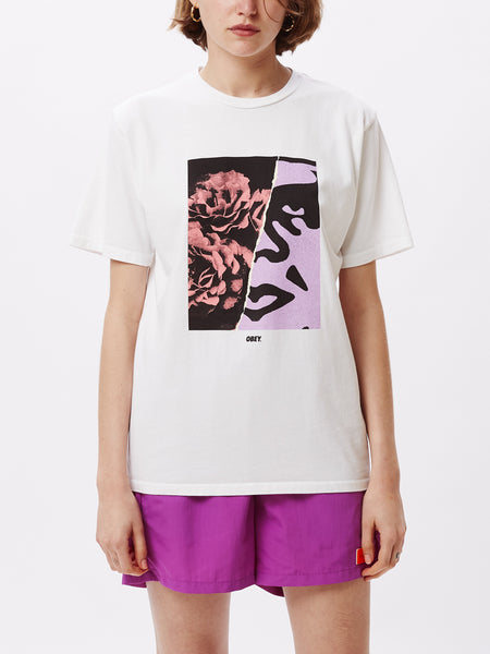 FLORAL ICON CHOICE TEE WHITE | OBEY Clothing