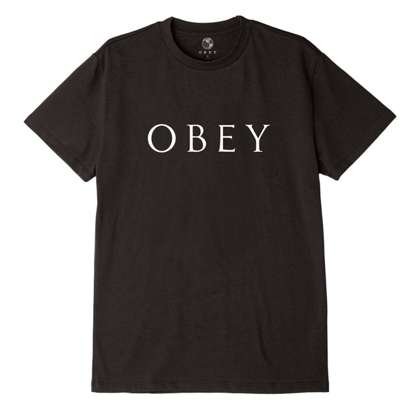 OBEY NOVEL 2 SUSTAINABLE TEE BLACK | OBEY Clothing