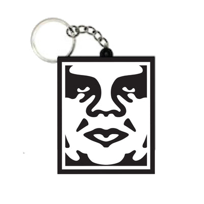 ICON SOFT PVC KEY CHAIN BLACK | OBEY Clothing