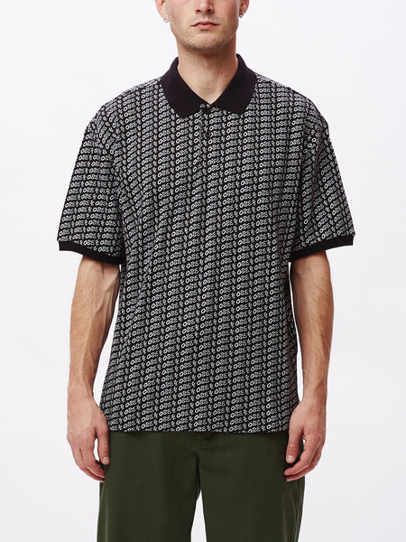 CUTTER POLO SS BLACK MULTI | OBEY Clothing