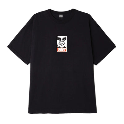 OBEY Icon Face Heavyweight Classic Box Tee Off Black | OBEY Clothing