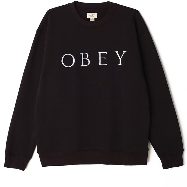 IDEALS SUSTAINABLE LOGO CREW BLACK | OBEY Clothing