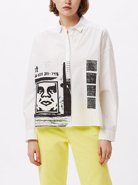 SALON SHIRT WHITE | OBEY Clothing