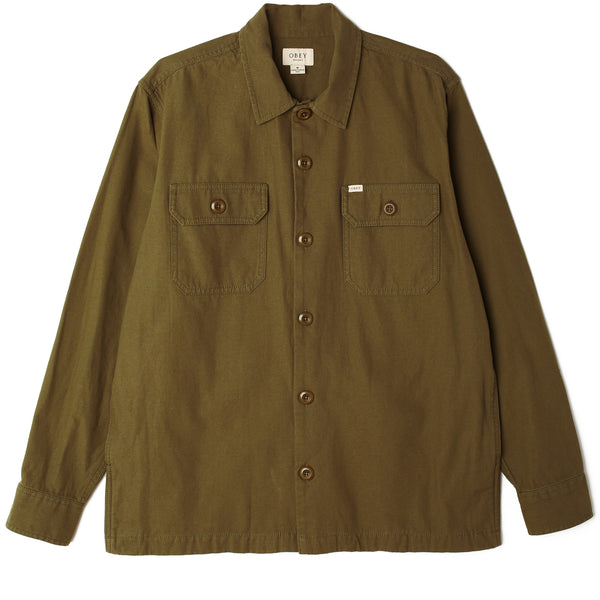 IDEALS ORGANIC FIELD WOVEN ARMY | OBEY Clothing