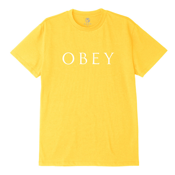 OBEY NOVEL 2 SUSTAINABLE TEE YELLOW | OBEY Clothing