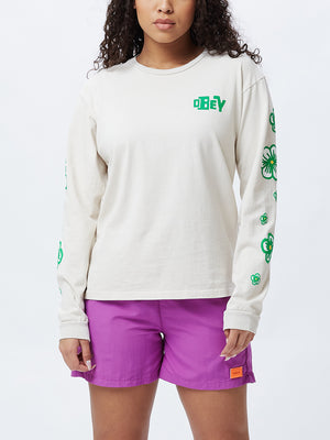 BLOOM CUSTOM BOX LS TEE CREME | OBEY Clothing