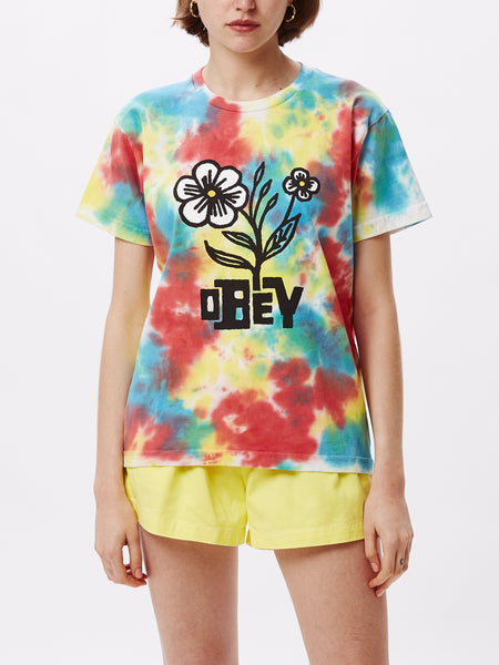 BLOOM TIE DYE CUSTOM BOX TEE RAINBOW BLOTCH | OBEY Clothing