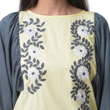 Light Yellow Applique Work Top