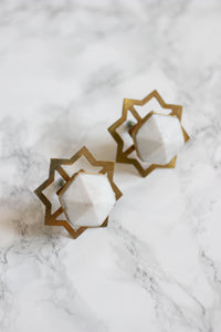 marble and brass knobs