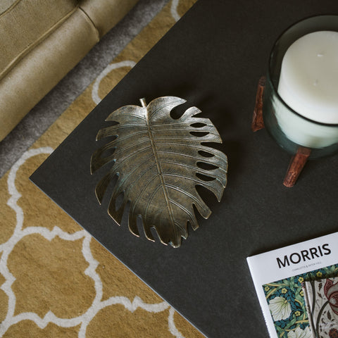 Antique Monstera Leaf Dish