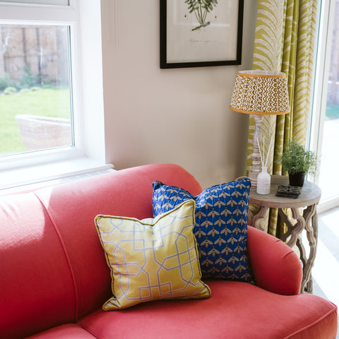 Bumble Bee Print Cushion
