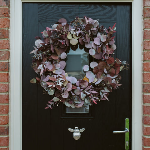 Burgundy Eucalyptus Autumn Wreath