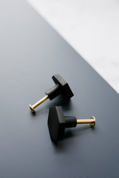 Black Hexagon Knob
