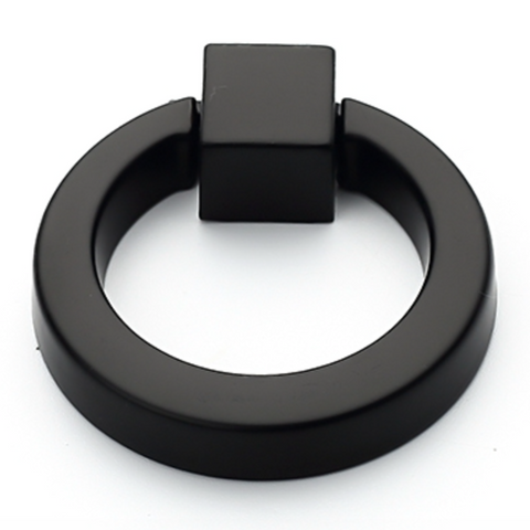 Black Ring Cabinet Pull