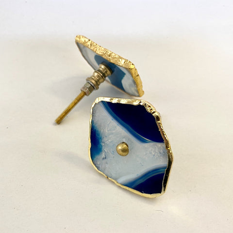 Blue Agate Drawer Pull