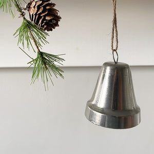 Hanging Silver Christmas Bell