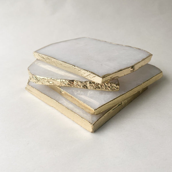 Natural Square Agate Coaster
