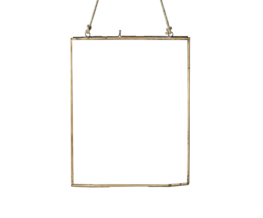 Copper Metal Photo Frame with String Portrait