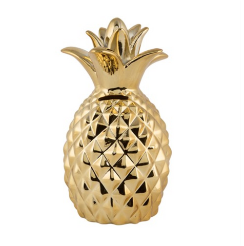 Gold Pineapple Money Box / Ornament