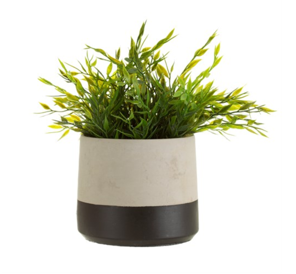 Black Dip Cement Planter