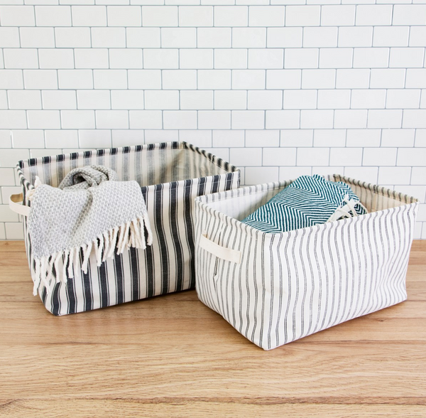 Stripe Storage Baskets