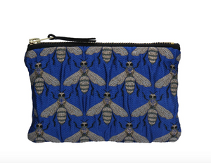 Blue Bee Jacquard Purse