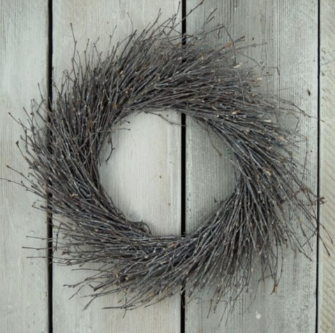 Distressed Whitewashed Birch Twig Wreath