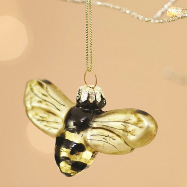 Golden Bumble Bee Gold Bauble Christmas Decoration