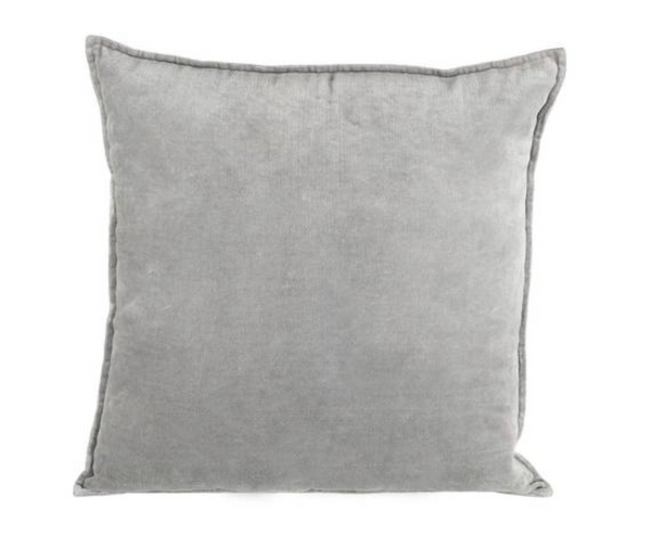 Grey Filled Velvet Cushion