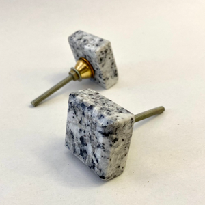 Grey Terrazzo Marble Square Stone Drawer Pull