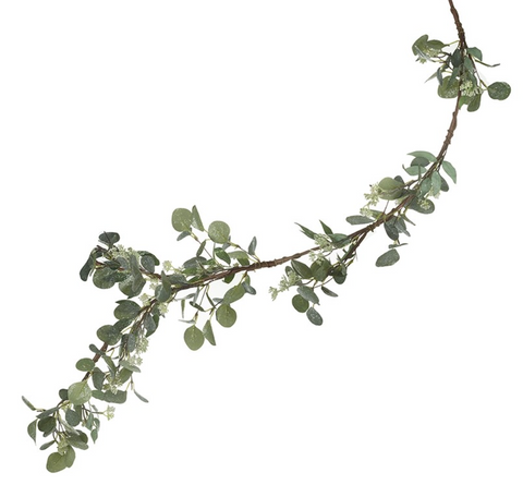 Green Eucalyptus Leaf Garland