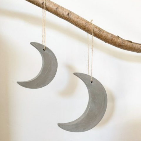 Cement Moon Christmas Decoration