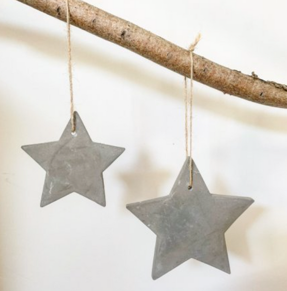 Cement Star Christmas Decoration