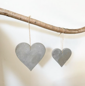 Cement Heart Christmas Decoration