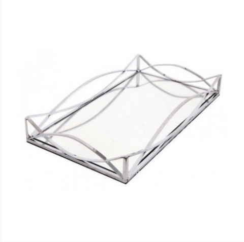 Rectangular Ornate Mirrored Tray