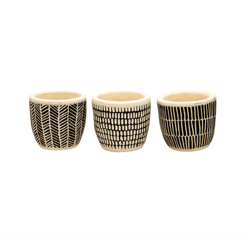 Set of 3 Scandi Mini Planters