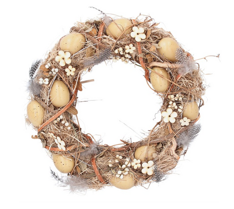 Feather & Egg Easter Wreath