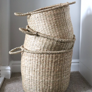 Set of 3 Natural Seagrass Baskets