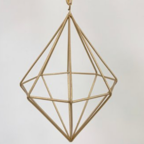 Geometric Hanging Diamond Christmas Decoration