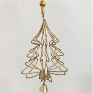 Gold Geometric Hanging Tree Christmas Decoration
