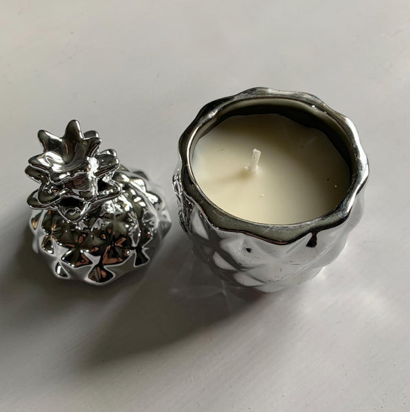 Small Silver Pineapple Candle Ornament
