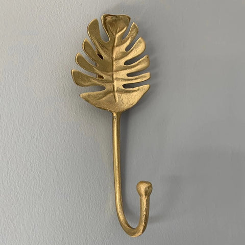 Gold Monstera Leaf Hook