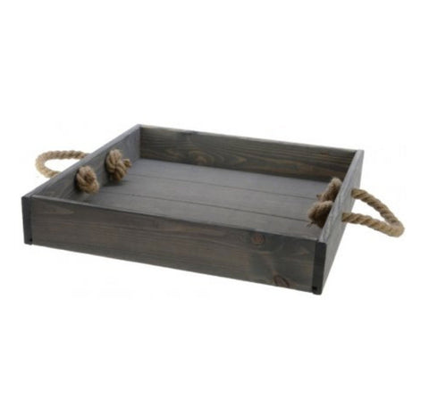 Industrial Grey Square Wooden Tray